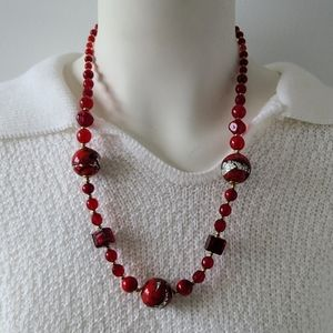 Murano Red Glass Necklace